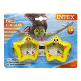 24 Units of Goggles - Intex Fun Goggles Ages 3-8 - Beach Toys