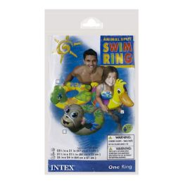 48 Units of Swim Ring - Intex Swim Ring With Animal Head Ages 3 to 6 - Beach Toys