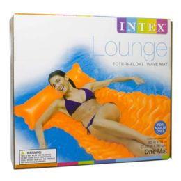 12 Units of Float Lounge Mat - Intex Tote N Float Lounge Mat 90 inch x 34 inch - Beach Toys