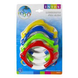12 Units of Fish Rings - Intex Underwater Fish Rings Pack Of 4 - Beach Toys