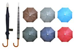 24 Units of Umbrella With Telescopic Cover (solid Colors) - Umbrellas & Rain Gear