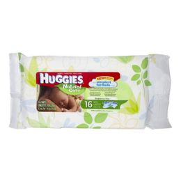 72 Units of Travel Size Huggies Wipes Soft Case Pack Of 16 - Baby Beauty & Care Items
