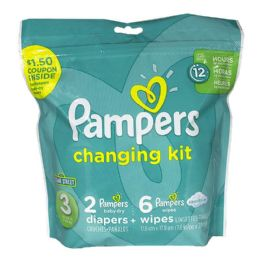 24 Units of Pampers Size 3 - Pampers 8 Piece Changing Kit - Baby Beauty & Care Items