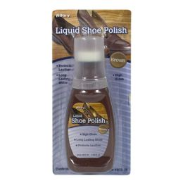 72 Units of Brown Shoe Polish - Allary Liquid Shoe Polish Brown 2.53 Oz. - Footwear & Shoes