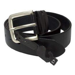 8 Units of Leather Belts - Black Leather Belts Assorted Sizes - Mens Belts