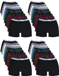 36 Units of Mens 100% Cotton Boxer Briefs Underwear, Great for Homeless Shelters Donations, Bulk, Assorted Colors (36 Pack Small) - Mens Underwear