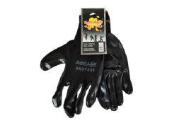48 Units of Black Nitrile Work GloveS-Large - Working Gloves
