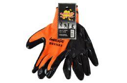 48 Units of Orange Nitrile Work GloveS-Large - Working Gloves