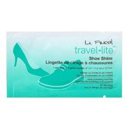 500 Units of Shoe Wipe - La Fresh Travel Lite Shoe Shine Wipe - Footwear & Shoes