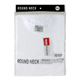 24 Units of Men's Tshirt - T Shirt Men's White 2X - Mens Underwear
