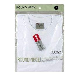 24 Units of Men's Tshirt - T Shirt Men's White Medium - Mens Underwear