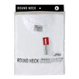 24 Units of Men's Tshirt - T Shirt Men's White Small - Mens Underwear