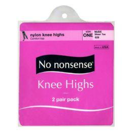 36 Units of Kneehighs - No Nonsense Kneehighs Nude 2 Pairs - Womens Knee Highs