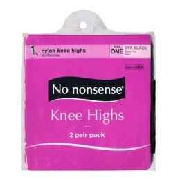 36 Units of Kneehighs - No Nonsense Kneehighs Off Black 2 Pairs - Womens Knee Highs