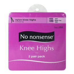 36 Units of Kneehighs - No Nonsense Kneehighs Tan 2 Pairs - Womens Knee Highs
