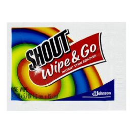 288 Units of Shout Wipe And Go Instant Stain Remover Wipes - 1 Wipe - Laundry Detergent