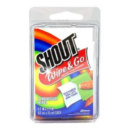 72 Units of Travel Size Shout Wipes - 2 Oz. Pack Of 4 - Laundry Detergent