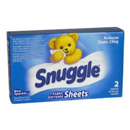 100 Units of Travel Size Snuggle Fabric Softener Box Of 2 Sheets - Laundry Detergent