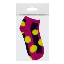72 Units of Women's Socks - Socks Women's Quarter Prints - Womens Ankle Sock