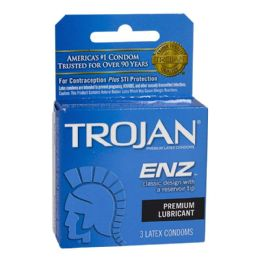 48 Units of Lubricated Condoms - Trojan Enz Lubricated Condoms Box - Personal Care