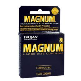 36 Units of Lubricated Condoms - Trojan Magnum Lubricated Condoms Box Of 3 - Personal Care