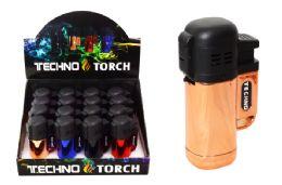 16 Units of Metallic Triple Torch Lighter - Lighters