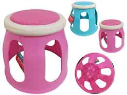 24 Units of Baby Stool No Printing Asst Clr - Baby Care
