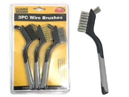96 Units of 3pc Wire Cleaning Brush Set - Cleaning Products