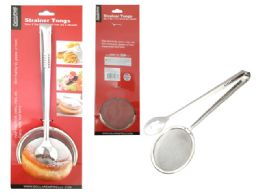 72 Units of Strainer Tongs - Kitchen Gadgets & Tools