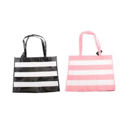 48 Units of Woven Tote Bag [Wide Stripes] - Tote Bags & Slings