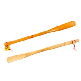 """72 Units of 19.5"""" Bamboo Shoe Horn - Footwear Accessories"""