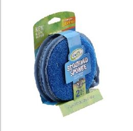 72 Units of 2 Pack Round Sponge - Scouring Pads & Sponges