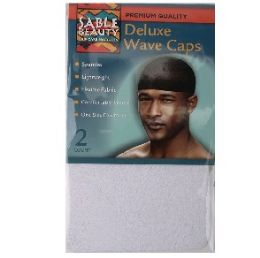 96 Units of 2pk Wave Cap [White] - Head Wraps