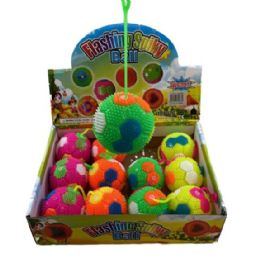 """72 Units of 3"""" Squeeze Yoyo Spike Ball with Lights [Sport] - Light Up Toys"""