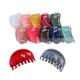"84 Units of 3.25"" Claw Clip with Rhinestones - Hair Accessories"
