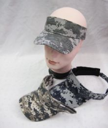 36 Units of Army Camouflage Sun Visor Hatmen - Sun Hats