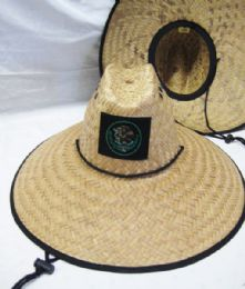 24 Units of STRAW PESCADOR HAT WITH MEXICO EAGLE - Sun Hats