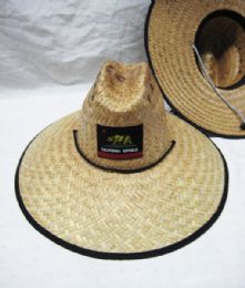 24 Units of STRAW PESCADOR HAT CALIFORNIA REPUBLIC - Sun Hats