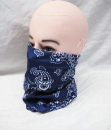 48 Units of Butterfly Flying Headwear Headband Multifunctional Scarf Bandana Face Mask For Women Men In Blue - Face Mask