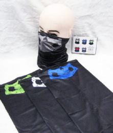 48 Units of Skull Face Mask Gaiters Face Mask Neck Gaiters Face Cover Scarf Breathable Gator Mask Cooling Bandana Skull Scarf - Face Mask