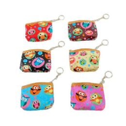 """84 Units of 4""""x3.5"""" Zippered Change Purse [owl] - Coin Holders & Banks"""