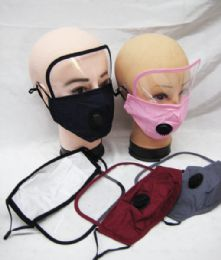 60 Units of Adult Reusable Face Mask With Eye Shield - Face Mask