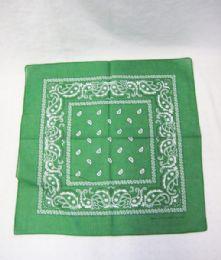 84 Units of Novelty Bandanas Paisley Cotton Bandanas In Green - Bandanas