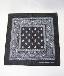 84 Units of Bandanas Cotton Paisley Print Head Wrap Scarf Wristband - Bandanas