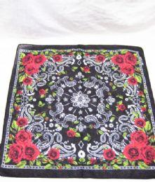 84 Units of Bandanas Cotton Floral Print Head Wrap Scarf Wristband In Khaki - Bandanas