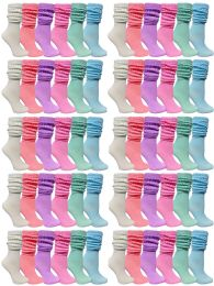 60 Units of 60 Pack Yacht & Smith Womens Cotton Slouch Socks, Womans Knee High Boot Socks (pastel) - Womens Crew Sock