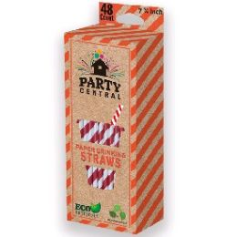 72 Units of 48ct Paper Drinking Straw - Straws and Stirrers
