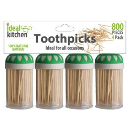 72 Units of 4 Pack 800 Count Toothpick - Toothpicks