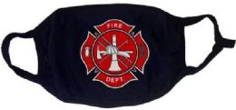 24 Units of Fire Department Black Color Face Mask - Face Mask