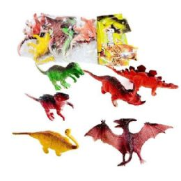 36 Units of 6pc Toy Dinosaur in Bag - Animals & Reptiles